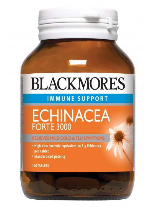 Blackmores Echinacea Forte 3000, Relieves cold & flu symptoms, 120 Tablets
